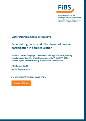 Economic growth and the issue of women participation in adult education