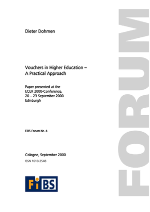 Vouchers in Higher Education - a practical approach